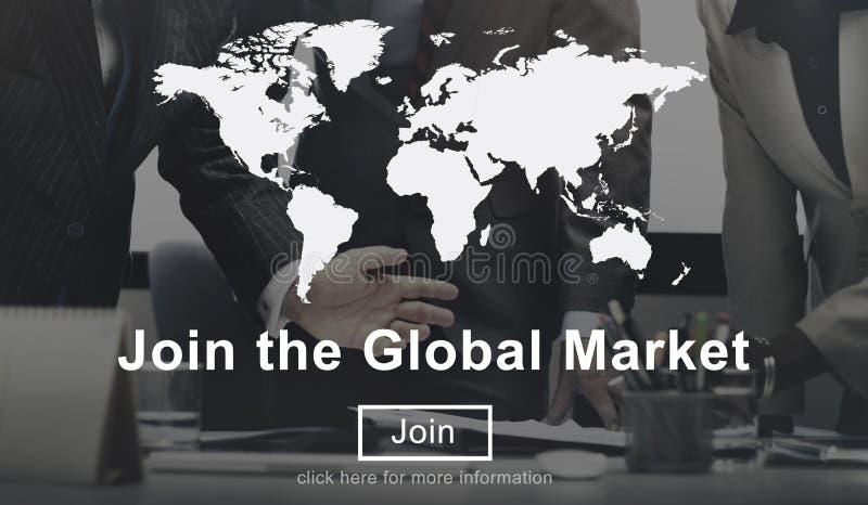Junte-se ao engodo global do Web site do comércio da estratégia empresarial do mercado fotos de stock