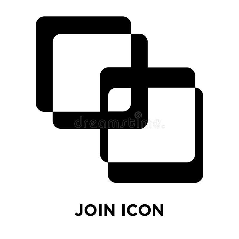 Junte-se ao vetor do ícone isolado no fundo branco, conceito do logotipo de J ilustração stock