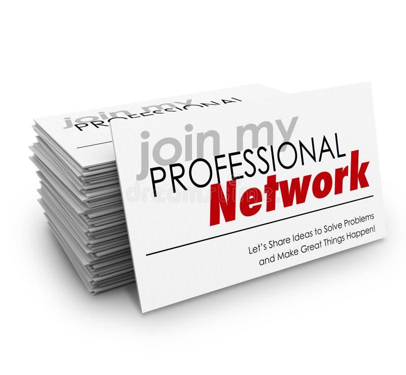 Junte-se a meus cartões profissionais da rede expandem crescem a carreira O ilustração do vetor