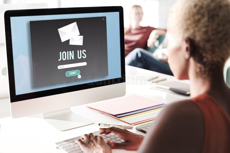 Junte-se nos aplicam o conceito de aluguer da empresa dos recursos humanos foto de stock