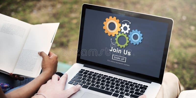 Junte-se nos conceito de aluguer do emprego do recrutamento fotos de stock royalty free
