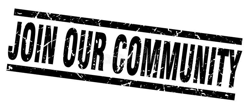 Junte-se a nosso selo da comunidade ilustração royalty free