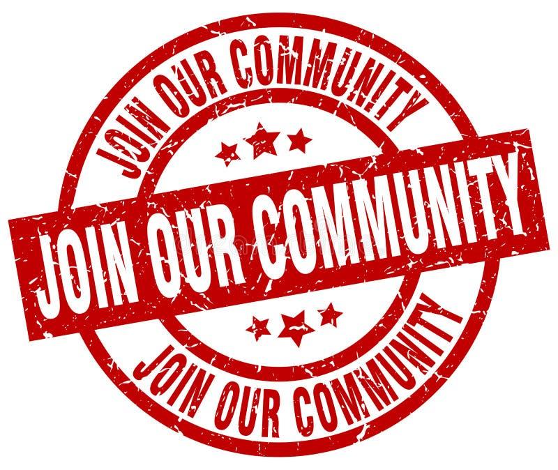 Junte-se a nosso selo da comunidade ilustração do vetor