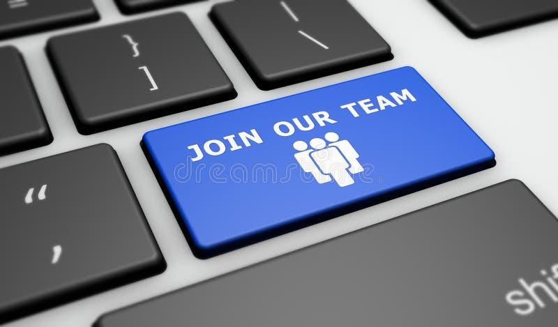 Junte-se a nosso Team Online Recruitment Concept ilustração royalty free
