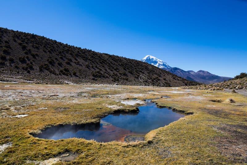Junthuma-Geysire, gebildet durch geothermische Tätigkeit bolivien stockfotos