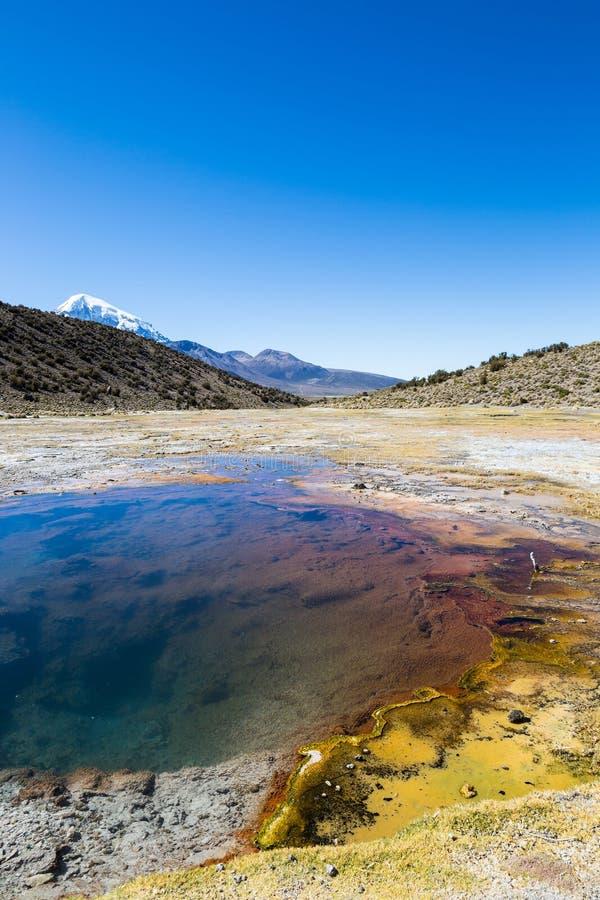 Junthuma-Geysire, gebildet durch geothermische Tätigkeit bolivien lizenzfreie stockfotografie