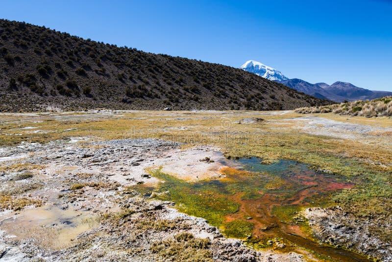 Junthuma-Geysire, gebildet durch geothermische Tätigkeit bolivien lizenzfreies stockbild