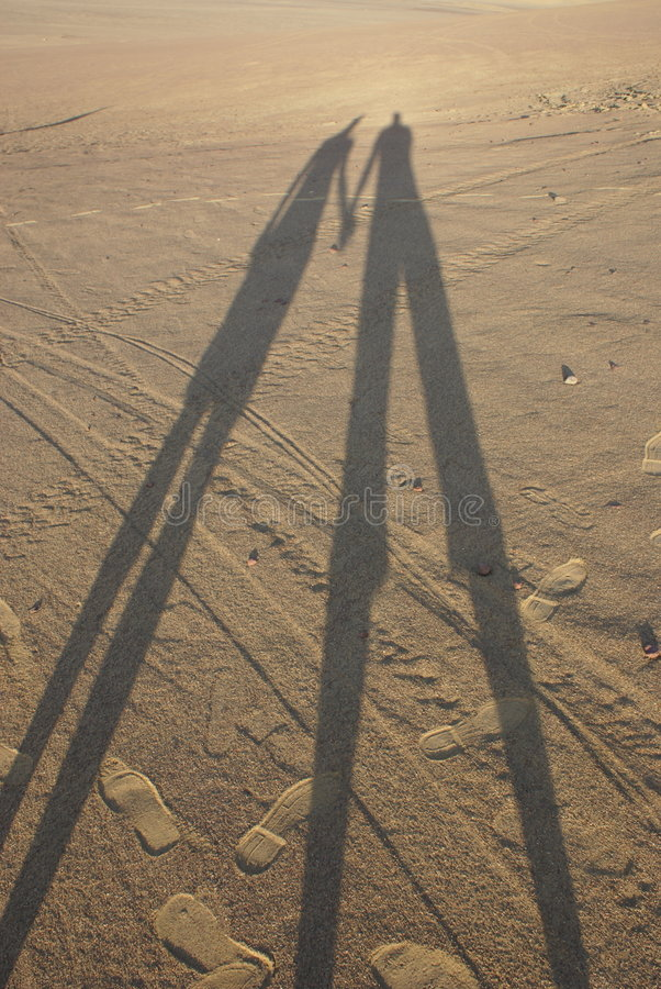 Junto en el desierto foto de archivo