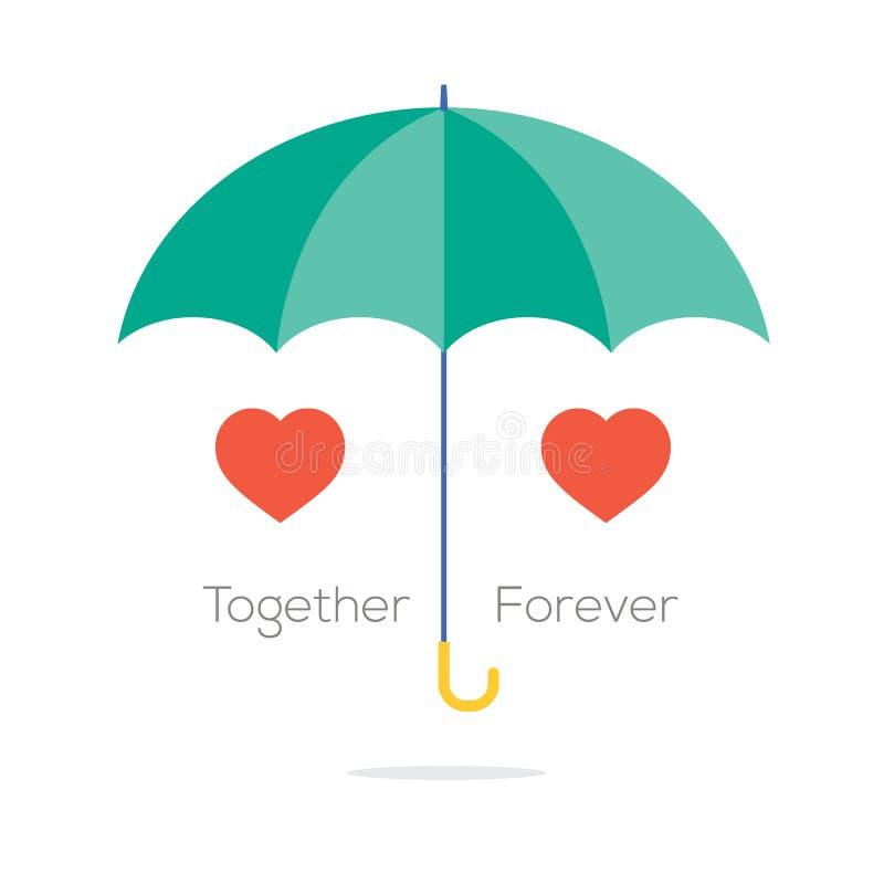 Junto para siempre concepto del amor libre illustration