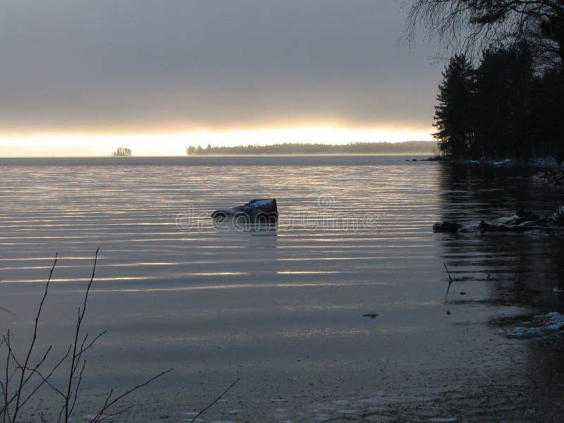 Juojarvi jezioro zdjęcia stock