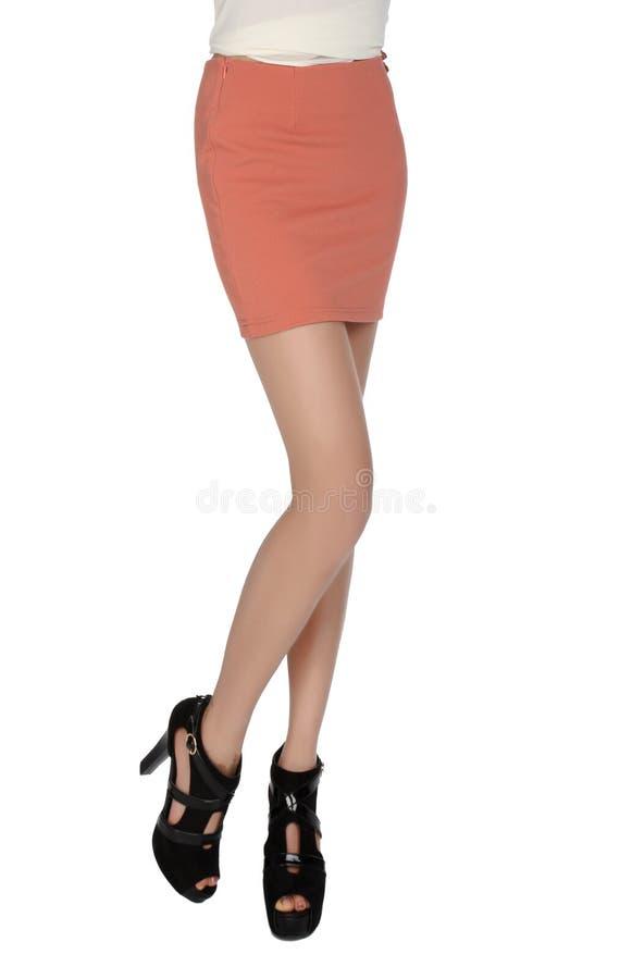 jupe courte de pattes élevées de talons longue photos libres de droits