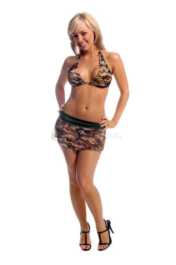 Jupe de bikini de Camo photos libres de droits