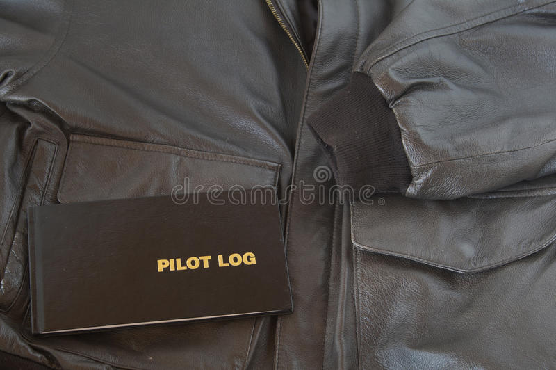 Jupe en cuir pilote du logarithme naturel A4 photos libres de droits
