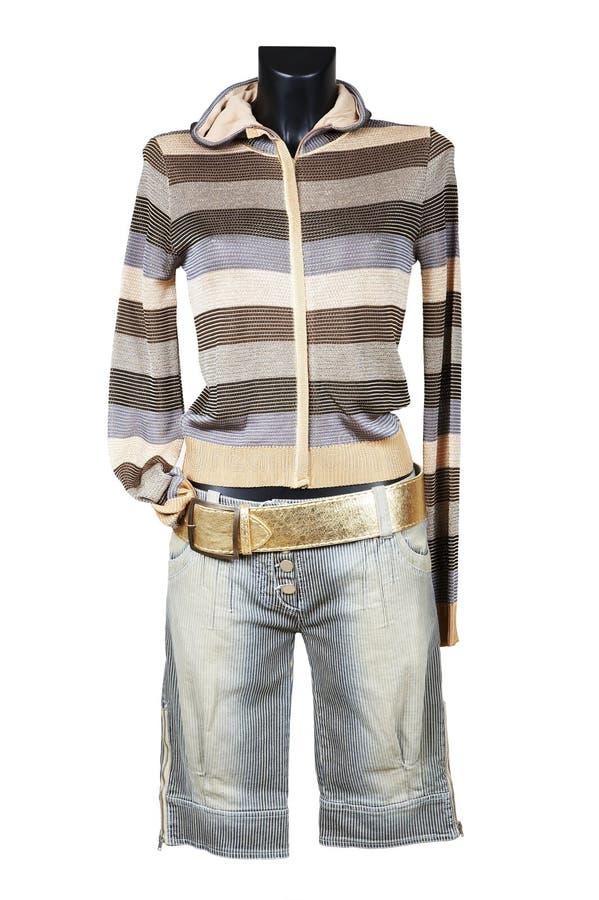 Jupe femelle tricotée image libre de droits