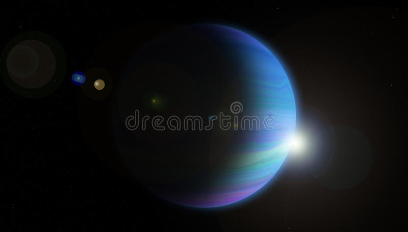 Jupiter bleu images libres de droits