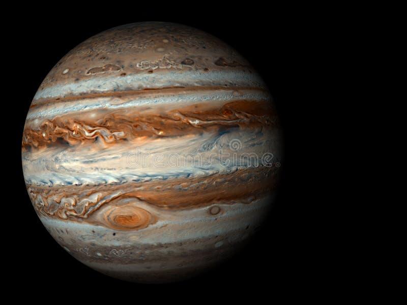 Jupiter. 3D render the planet Jupiter on a black background, high resolution stock illustration