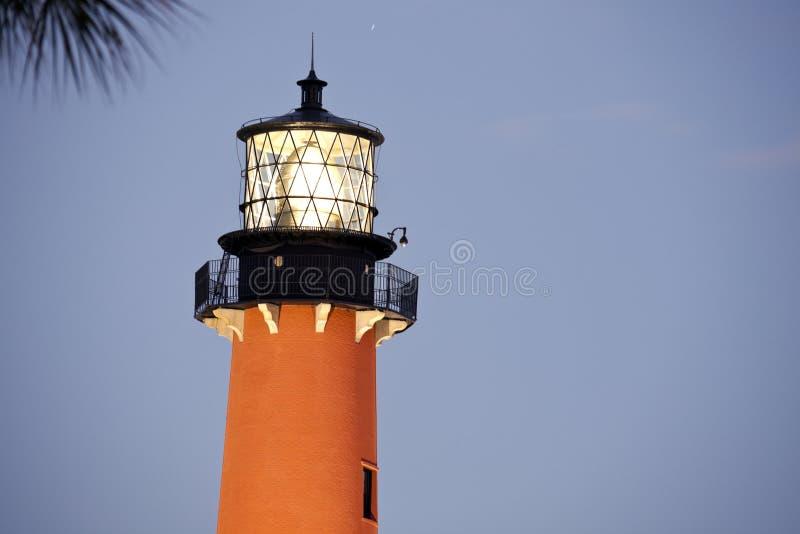 Jupiter-Eingangs-Leuchtturm lizenzfreies stockfoto