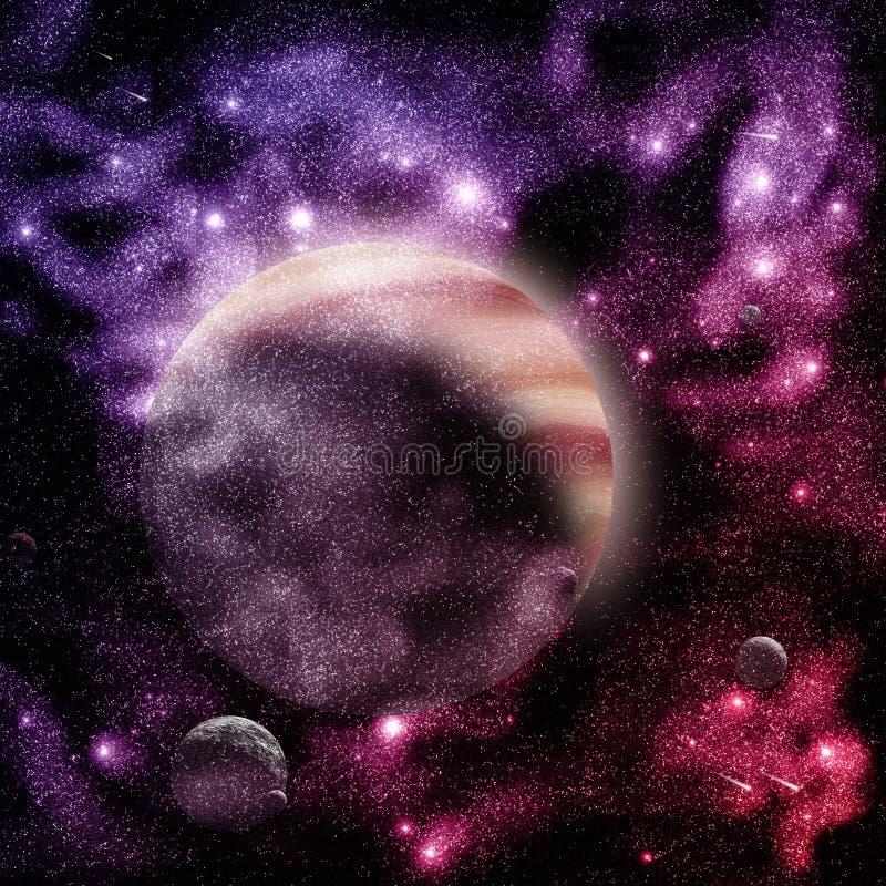 Jupiter et lunes illustration libre de droits