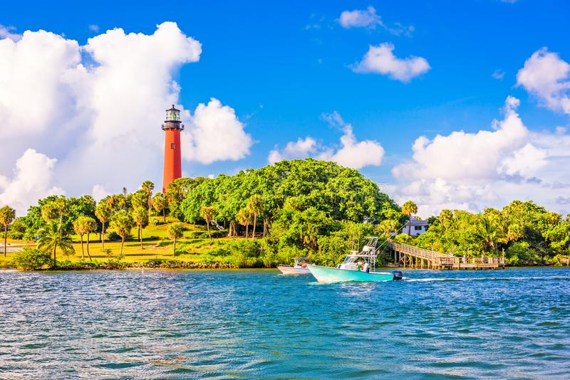 Jupiter Florida Inlet foto de stock royalty free