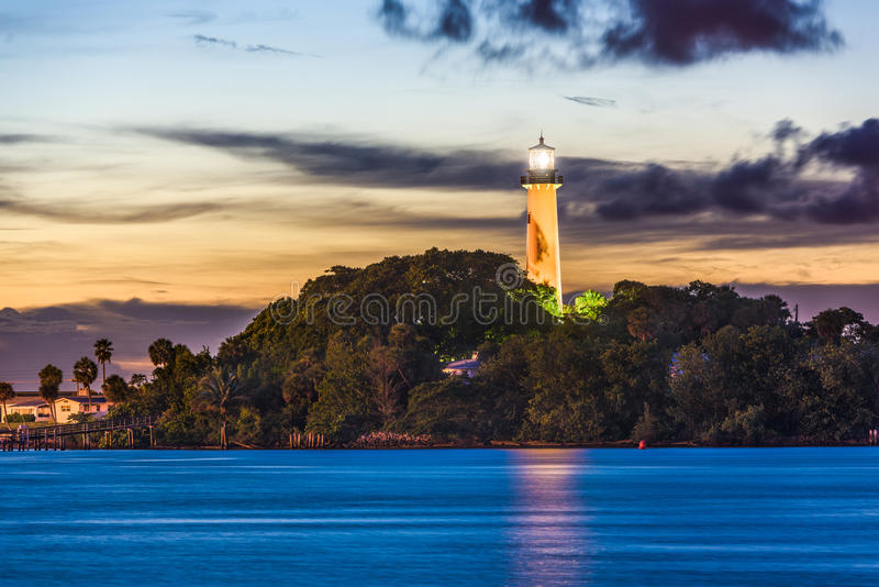 Jupiter Florida Lighthouse imagem de stock royalty free
