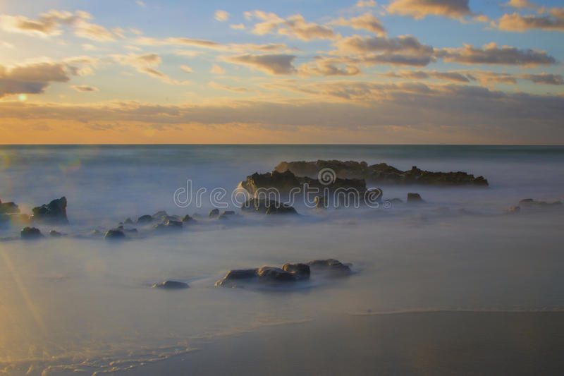 Jupiter Florida Sunrise lizenzfreie stockbilder