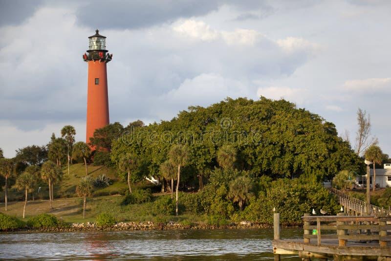 Jupiter fyr. Florida royaltyfri bild