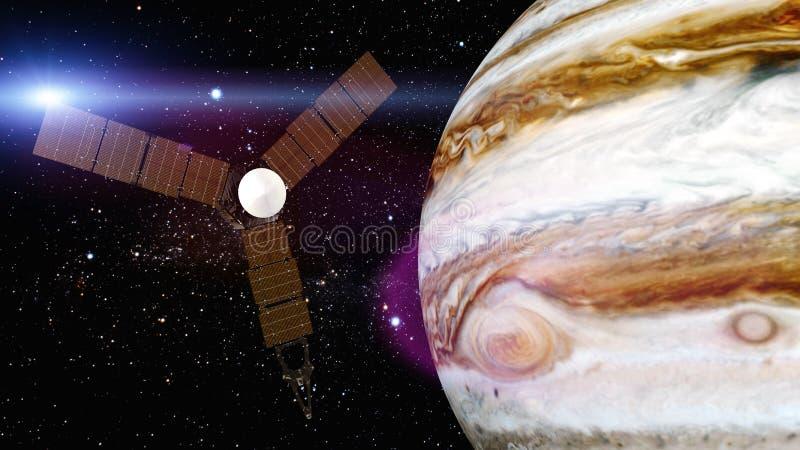 Jupiter i satelitarny juno royalty ilustracja