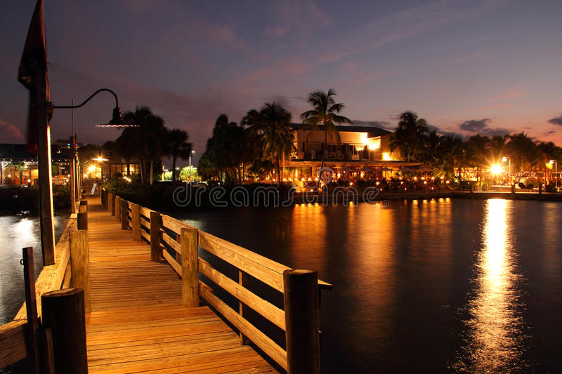 Jupiter Inlet Nightlife stockfotografie