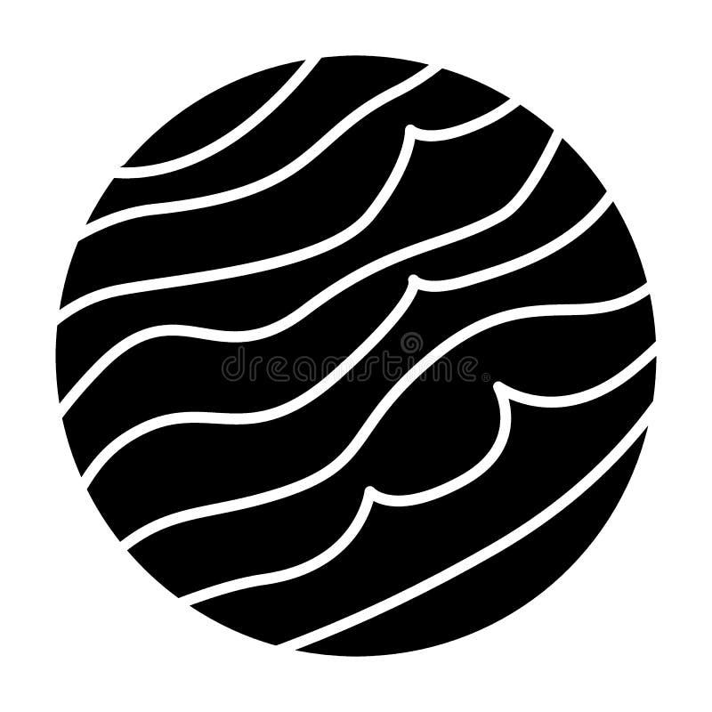 Jupiter-Körperikone Jove-Vektorillustration lokalisiert auf Weiß Planet Glyph-Artdesign, bestimmt für Netz und APP ENV lizenzfreie abbildung