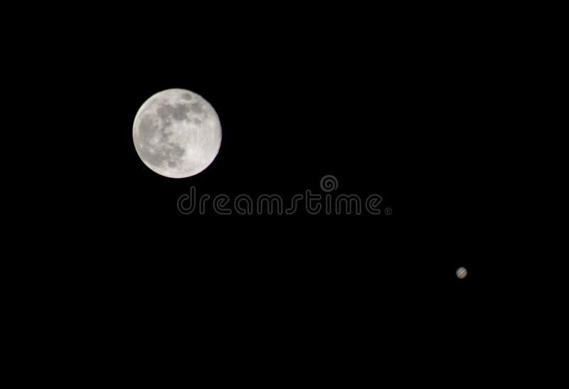 jupiter moon royaltyfri foto