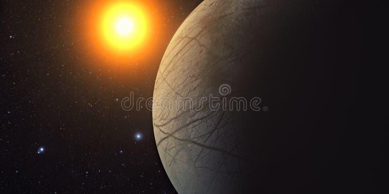 Jupiter Moon Europa ilustração do vetor