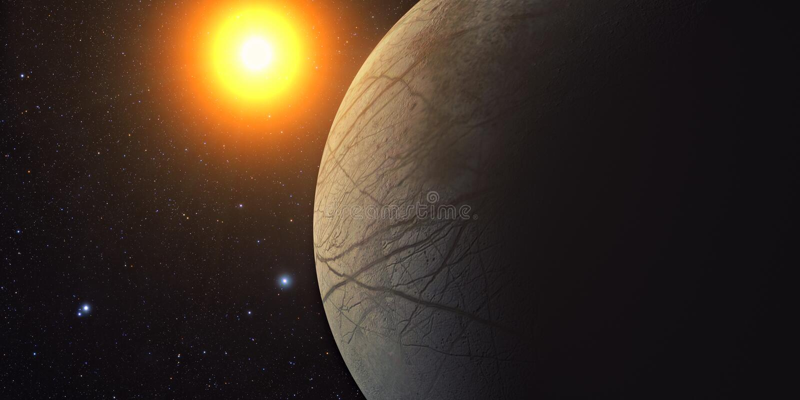 Jupiter Moon Europa vector illustration