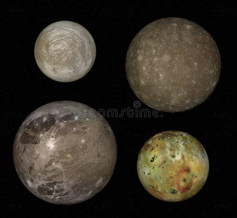 jupiter moons arkivfoton