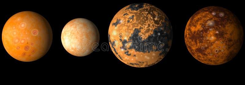 Jupiter musarde la planète s illustration de vecteur