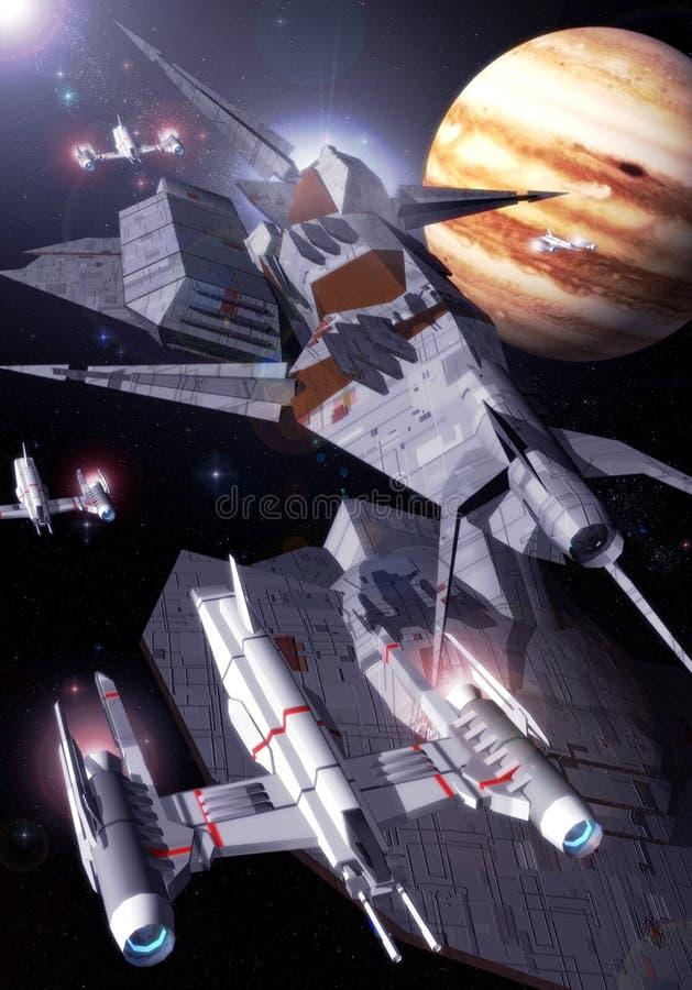 Download Jupiter orbit stock illustration. Image of stars, neptune - 6876943