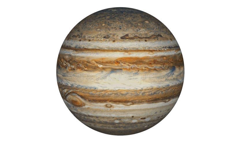 Jupiter Planet dat in wit wordt geïsoleerd royalty-vrije illustratie