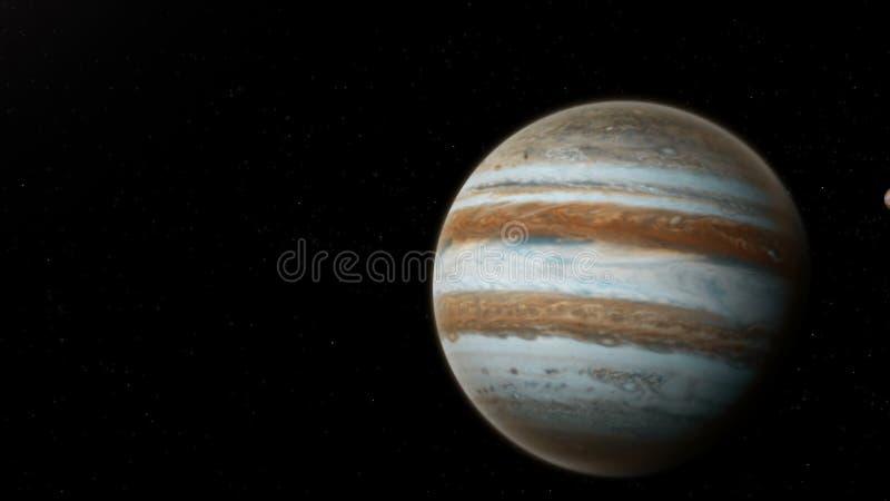 Jupiter réaliste d'espace lointain image stock
