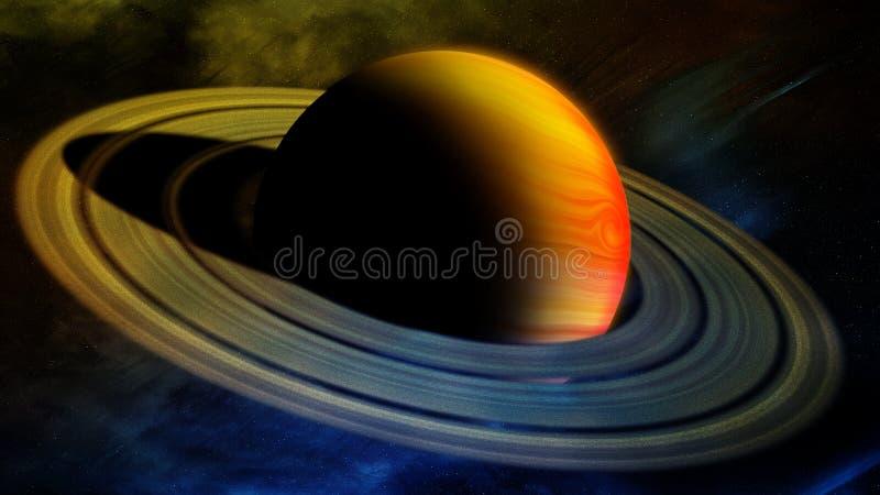Jupiter With Rings vektor illustrationer