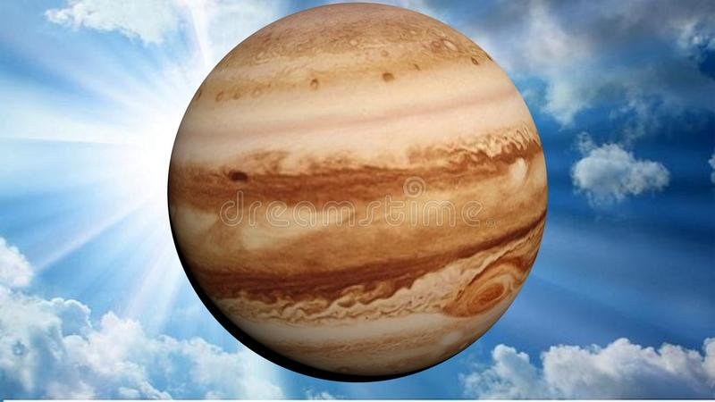 Jupiter in the sky royalty free illustration