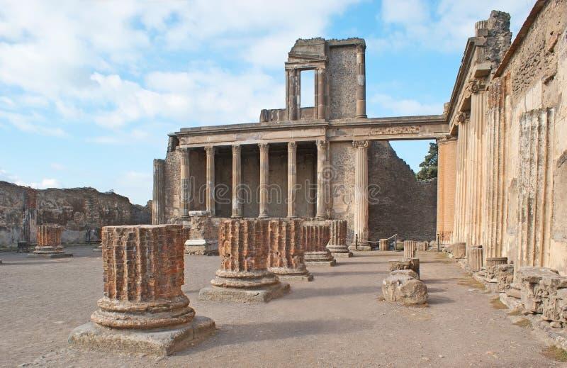 Jupiter Temple in Pompei stock afbeelding