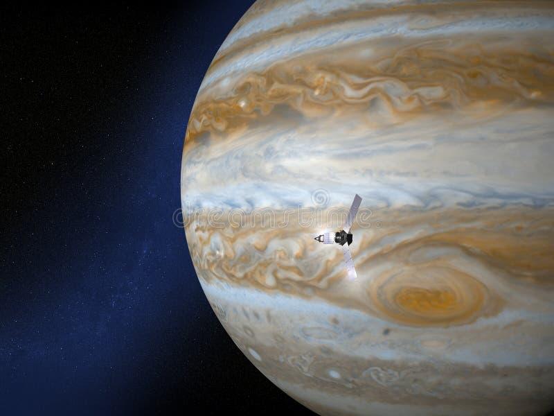 Jupiter- und Juno-Raumsonde vektor abbildung
