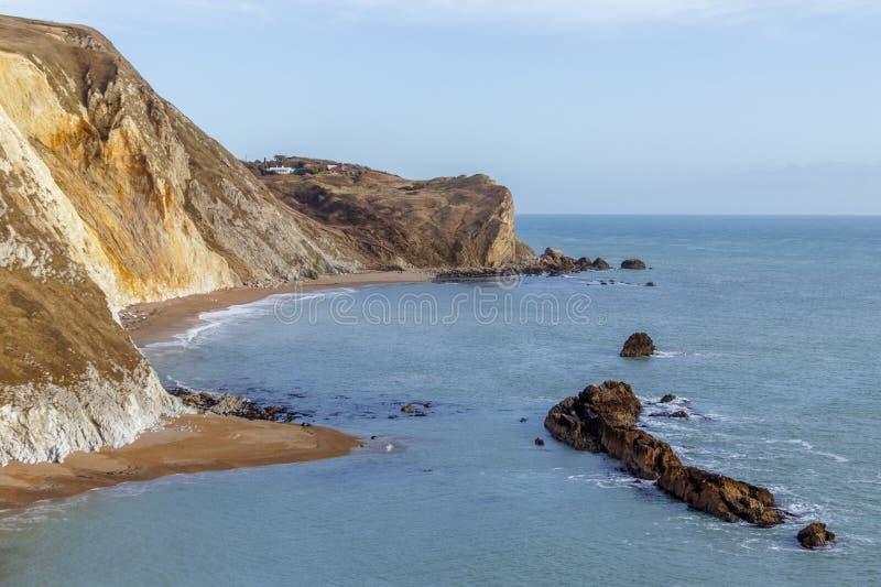 Jurajska linia brzegowa w Dorset obrazy stock