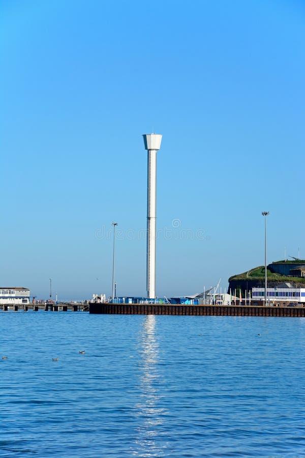 Jurajski linii horyzontu wierza, Weymouth fotografia stock