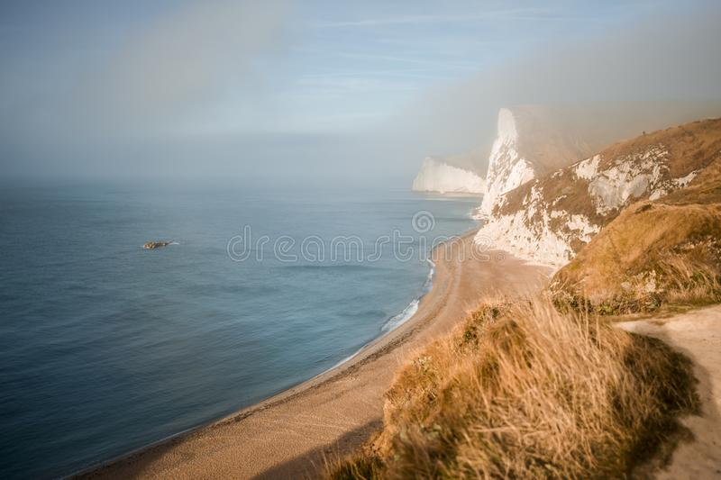 Juraküste nahe Lulworth in Dorset, England lizenzfreies stockfoto