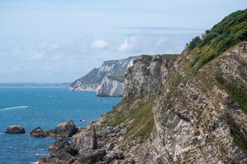 Juraklippenkustlijn Dorset het UK stock afbeelding