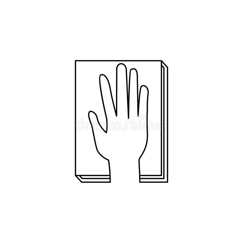 juramento en el icono de la constitución Elementos del icono de las elecciones Diseño gráfico de la calidad superior Muestras e i stock de ilustración