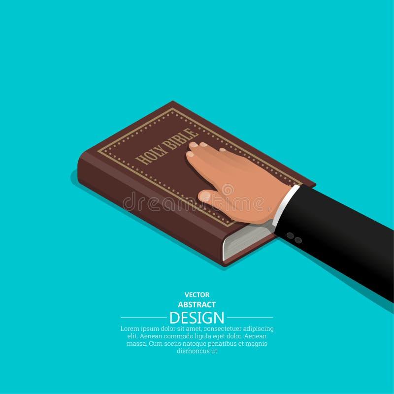 Juramento en la Sagrada Biblia stock de ilustración