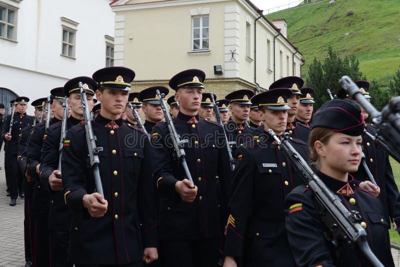 Jurar-da academia militar lituana imagens de stock