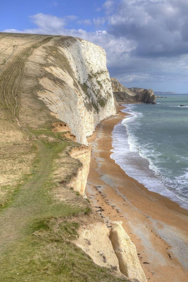 Jurassic coast in Dorset England