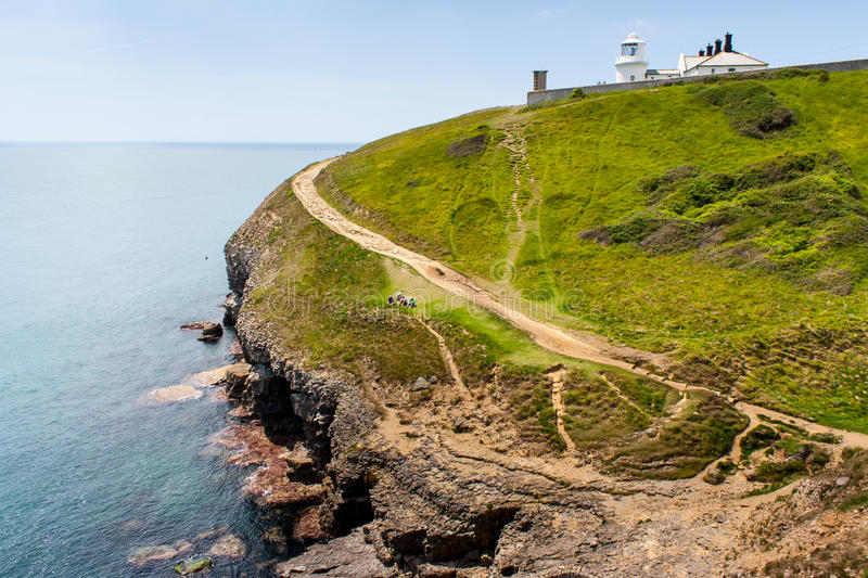 Jurassic coast line royalty free stock image